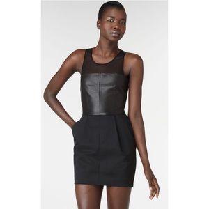 Elizabeth & James Stiletto Knit & Leather Dress